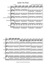 Zadok The Priest for String Quartet Sheet Music
