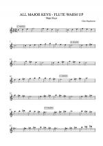 ALL MAJOR KEYS - FLUTE WARM UP Sheet Music