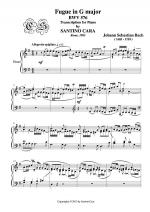Fugue in G major for piano BWV 576 by J.S.Bach Sheet Music