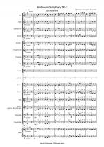 Beethoven Symphony No.7 (slow movement) for School Orchestra Sheet Music