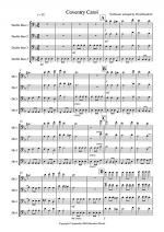 Coventry Carol for Double Bass Quartet Sheet Music