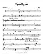 Words of Lincoln - Bb Trumpet 2 Sheet Music