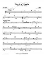 Words of Lincoln - Percussion Sheet Music