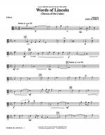 Words of Lincoln - Viola Sheet Music