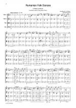 Bartok Rumanian Folk Dances Sheet Music