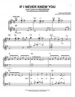 If I Never Knew You (Love Theme from POCAHONTAS) Sheet Music