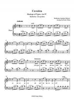 Mozart - Cavatina from The Marriage of Figaro Sheet Music