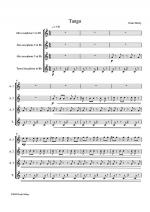 Tango - for 4 saxophones Sheet Music