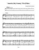 America & America the Beautiful Sheet Music