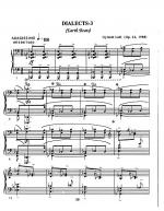 Dialects No. 3 Sheet Music