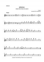 SPRING - FROM THE FOUR SEASONS - EASY STRING QUARTET MUSIC - VIOLIN 1 Sheet Music