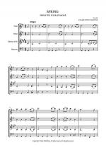 SPRING - FROM THE FOUR SEASONS - EASY WIND QUARTET MUSIC - SCORE Sheet Music