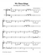 We Three Kings (String Trio – 2 violins, 1 cello) Sheet Music