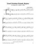 Good Christian Friends, Rejoice (String Trio – 2 violins, 1 cello) Sheet Music