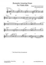 Romantic Amazing Grace - Violin Solo (Love Version) Sheet Music