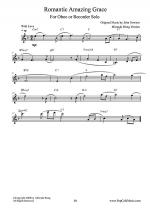 Romantic Amazing Grace - Oboe or Recorder Solo (Love Version) Sheet Music