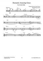 Romantic Amazing Grace - Cello Solo (Love Version) Sheet Music