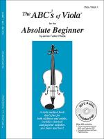 The ABC's Of Viola For The Absolute Beginner, Bk 1 Sheet Music